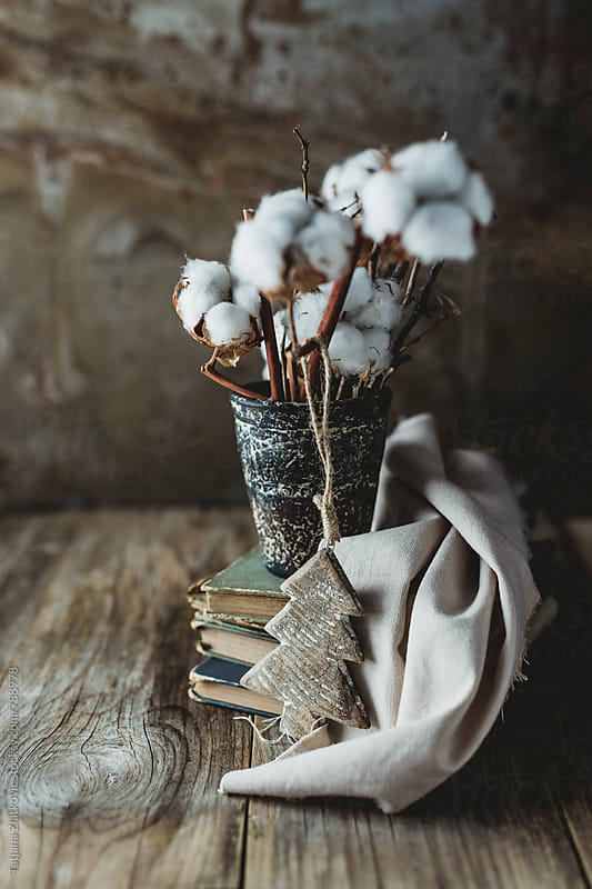 Christmas decoration with cotton by Tatjana Zlatkovic for Stocksy United