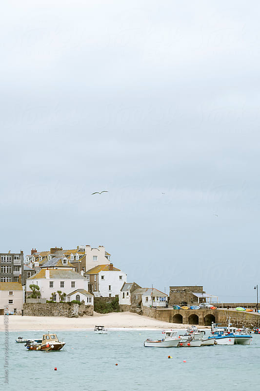 St Ives Harbour  by James Tarry for Stocksy United