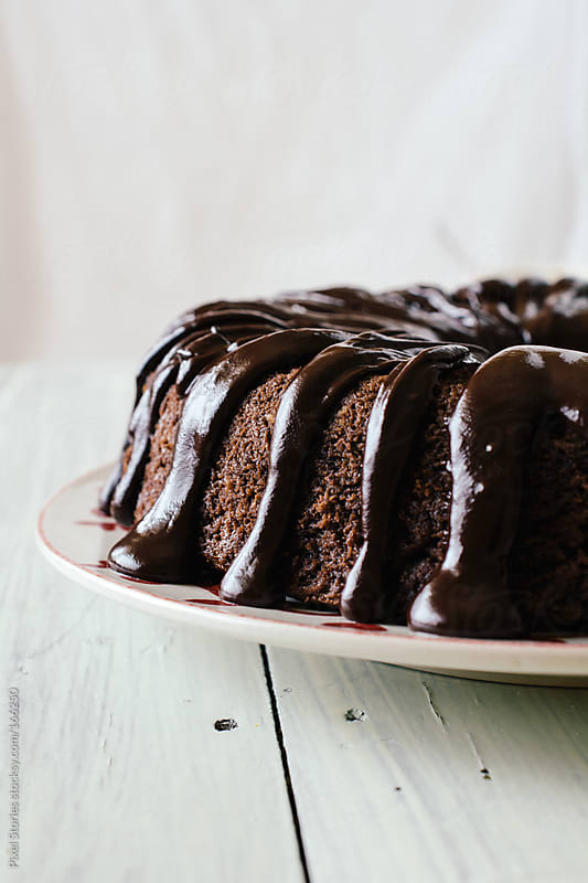 Chocolate cake by Pixel Stories for Stocksy United