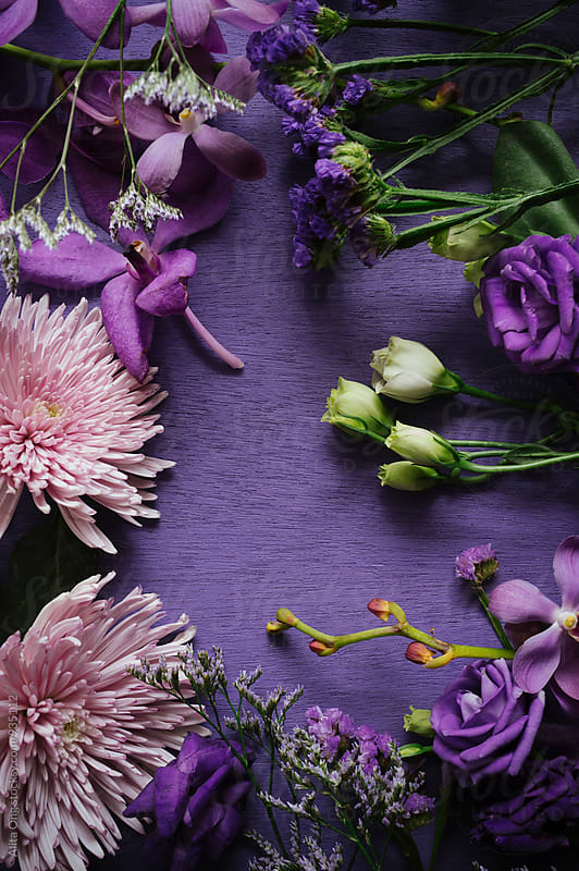 Purple bouequet by Alita Ong for Stocksy United