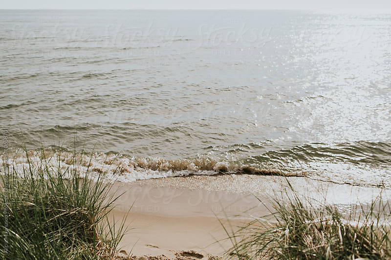 Lake Michigan Beach by Alicia Magnuson Photography for Stocksy United