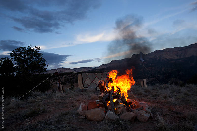 Camp Fire by Carey Haider for Stocksy United