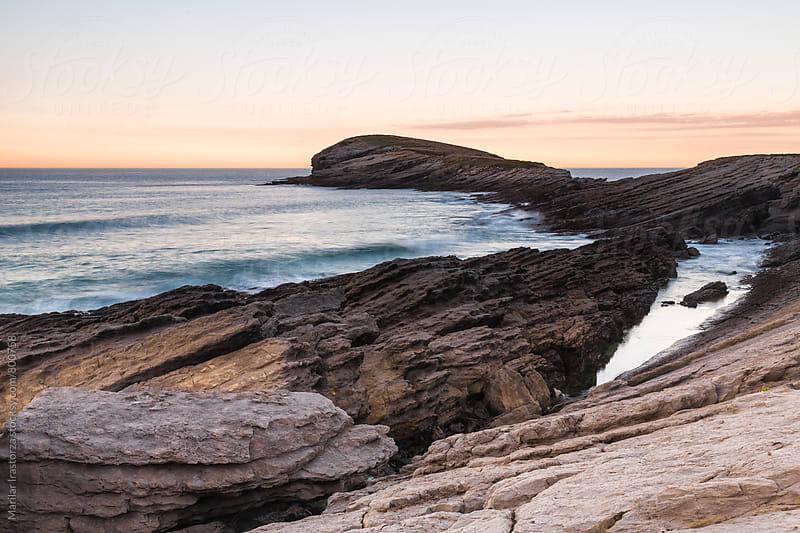 Beautiful coast at sunset by Marilar Irastorza for Stocksy United