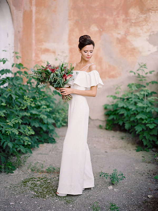 Beautiful Bride Portrait by Milles Studio for Stocksy United