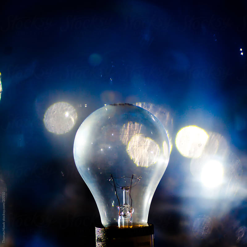 lightbulb by Thomas Hawk for Stocksy United