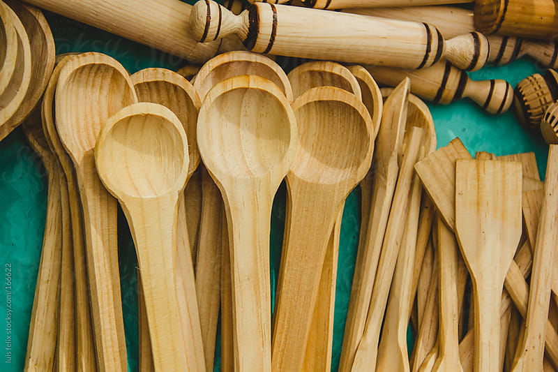 wood spoons by luis felix for Stocksy United