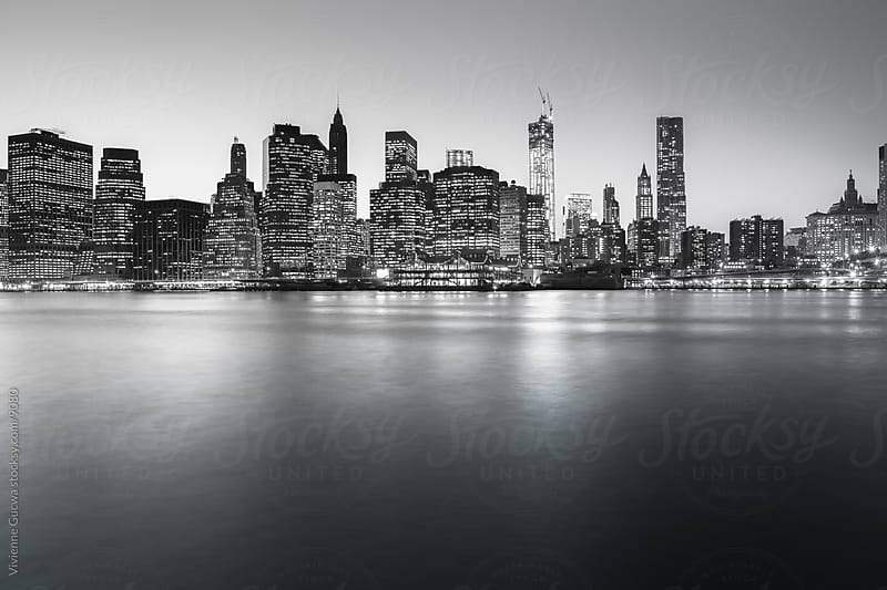 New York City Skyline in Black and White by Vivienne Gucwa for Stocksy United