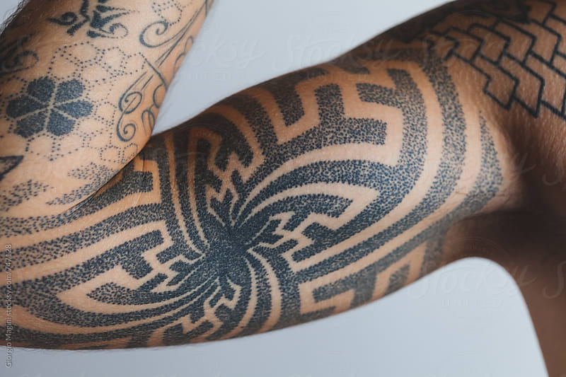 Muscular Arm with Dotted Tattoo by Giorgio Magini for Stocksy United