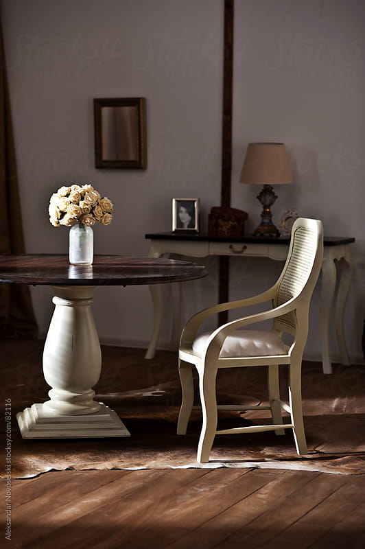 Furnitures beautifully lit by sunlight by Aleksandar Novoselski for Stocksy United