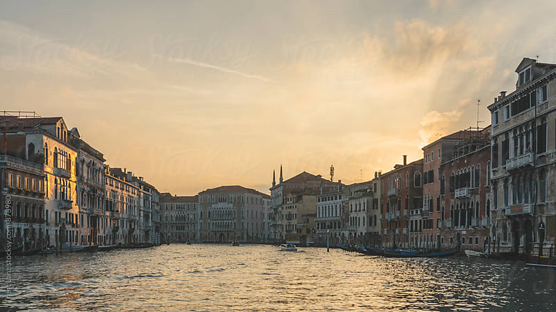 Beautiful view on Venice Canal from boat by Trent Lanz for Stocksy United