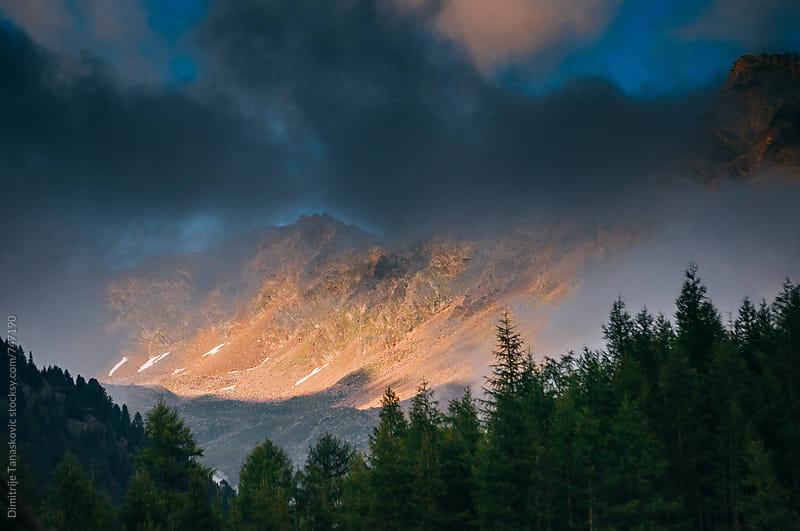 Mountain sunset by Dimitrije Tanaskovic for Stocksy United
