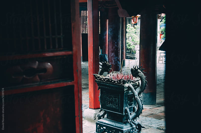 Incense urn in Literature temple Hanoi by David Navais for Stocksy United