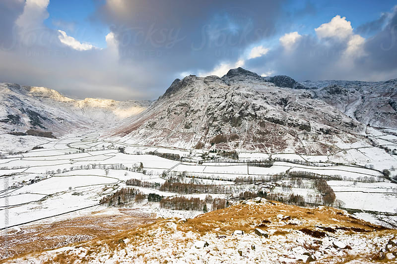 Langdale Pikes from Side Pike, Lake District National Park, Cumbria, England UK by Gavin Hellier for Stocksy United