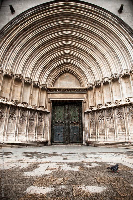 Church entrance in Girona, spain by Robert Kohlhuber for Stocksy United