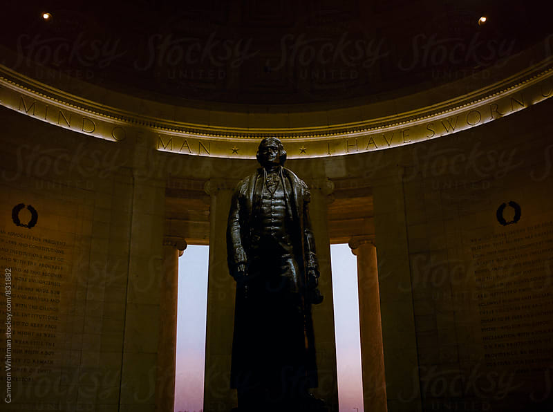 Thomas Jefferson Statue at the Jefferson Memorial in Washington DC  by Cameron Whitman for Stocksy United