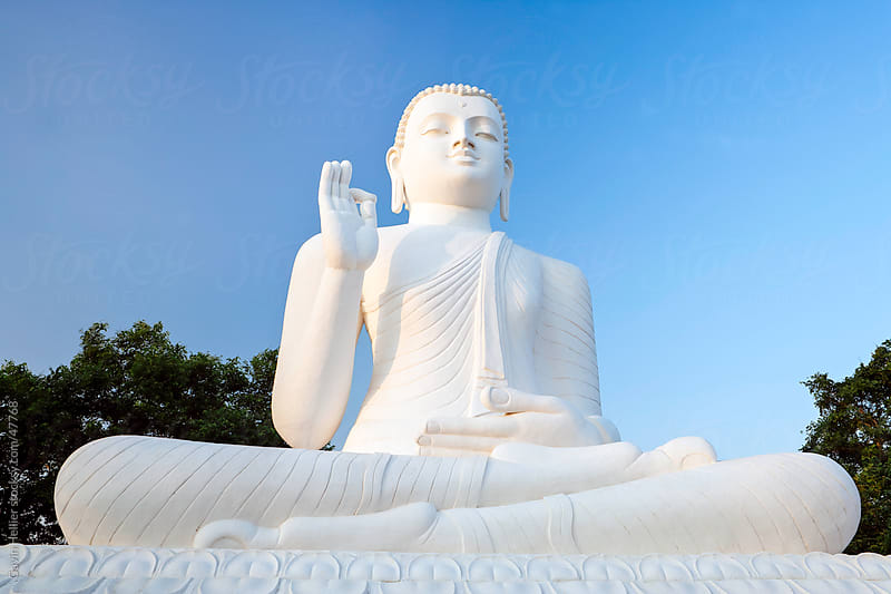 Great seated figure of the Buddha, Mihintale, Sri Lanka, Asia by Gavin Hellier for Stocksy United