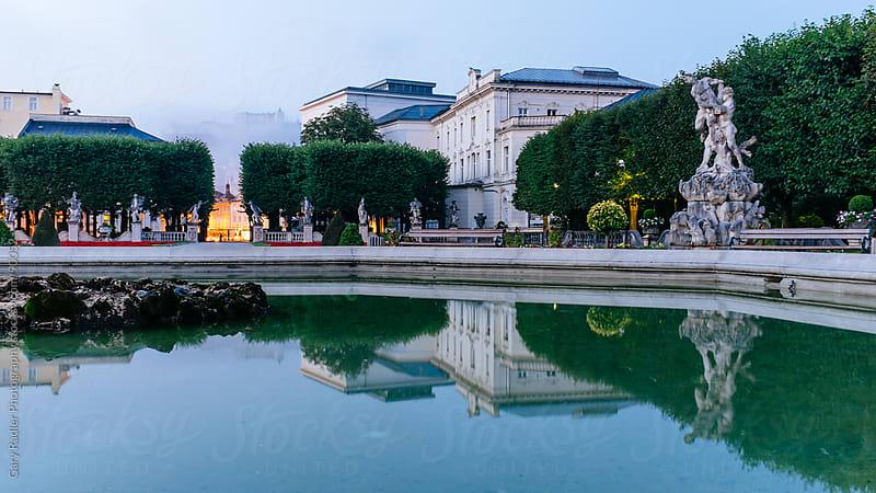 Fountain in Mirabell Garden, Salzburg, Austria by Gary Radler Photography for Stocksy United