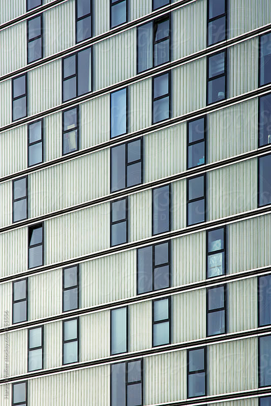 Modern facade of an apartment building in the Netherlands by Harald Walker for Stocksy United