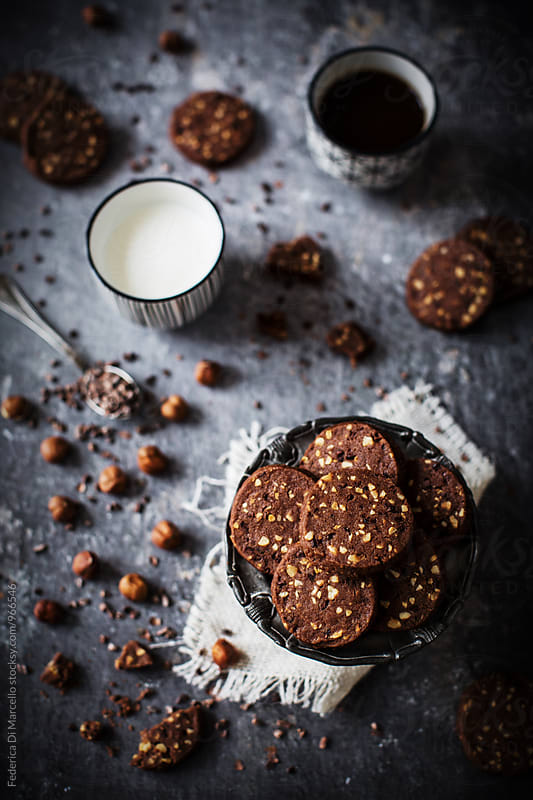 Hazelnut cocoa cookies by Federica Di Marcello for Stocksy United