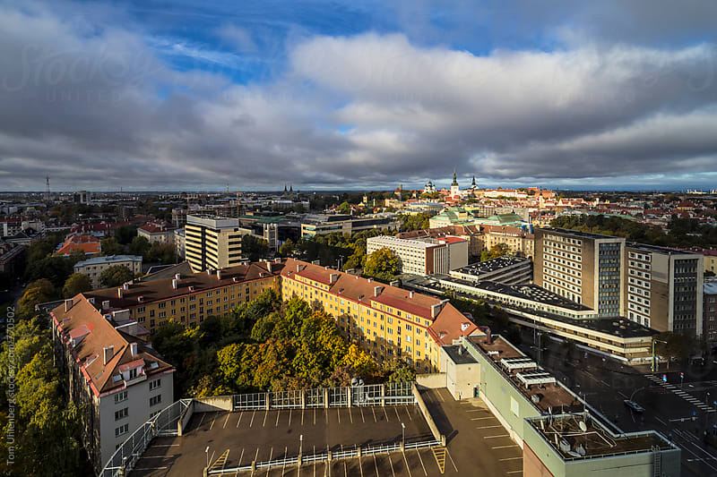 Tallinn, Estonia - City Panorama with the Old Town Skyline in the Background by Tom Uhlenberg for Stocksy United