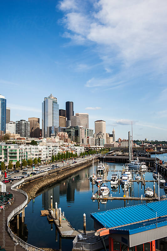 Downtown Seattle skyline by Suprijono Suharjoto for Stocksy United