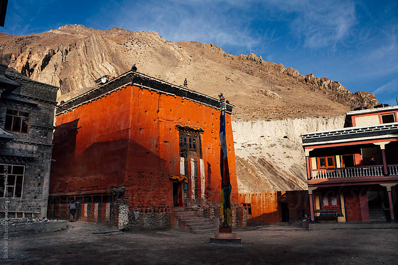 Kag Chode Thupten Samphel Ling Monastery in Kagbeni, Mustang. by Shikhar Bhattarai for Stocksy United
