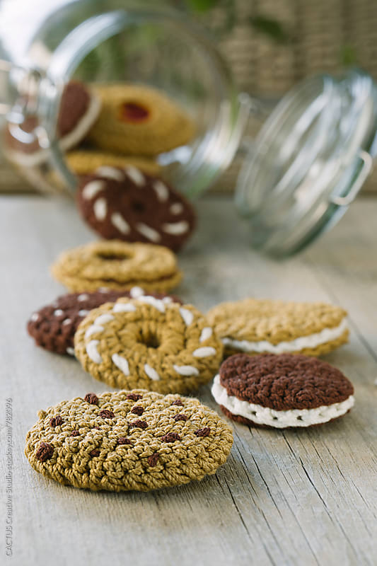 Amigurumi cookies by CACTUS Blai Baules for Stocksy United