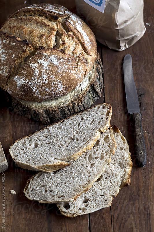 Sourdough bread by Babett Lupaneszku for Stocksy United