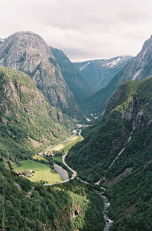 Amazing view to the beautiful Nærøydalen valley in Norway by Atle Rønningen for Stocksy United