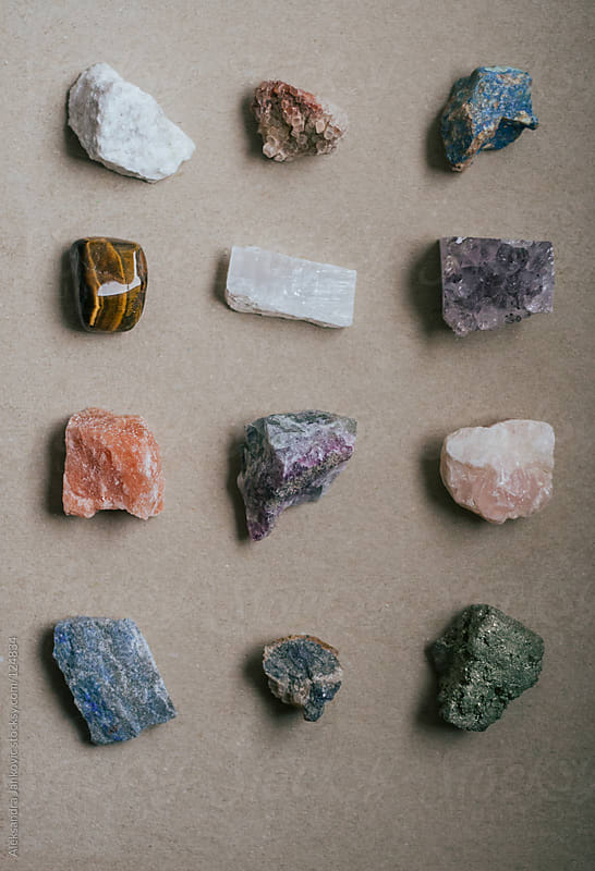 Collection of crystals. by Aleksandra Jankovic for Stocksy United
