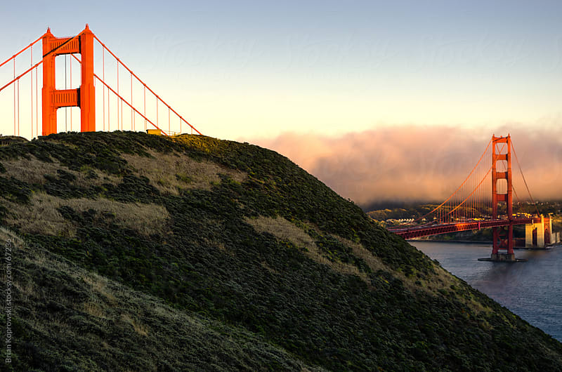 The Golden Gate Bridge in Golden Light by Brian Koprowski for Stocksy United