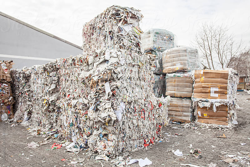 Old Paper Ready for Recycling by Mosuno for Stocksy United