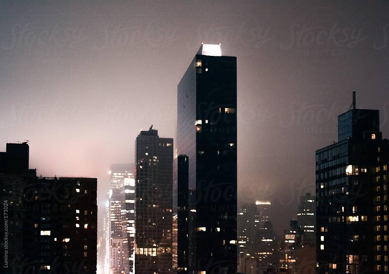New York at Night by Lumina for Stocksy United