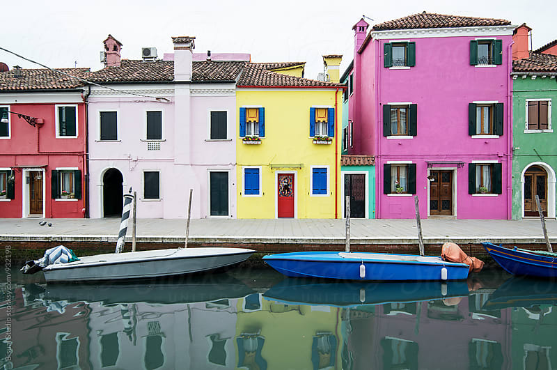 Colorful street in Burano by Bisual Studio for Stocksy United