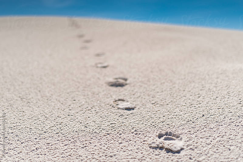 Woman's Footprints in Sand Dune In White Sands National Monument New Mexico by JP Danko for Stocksy United