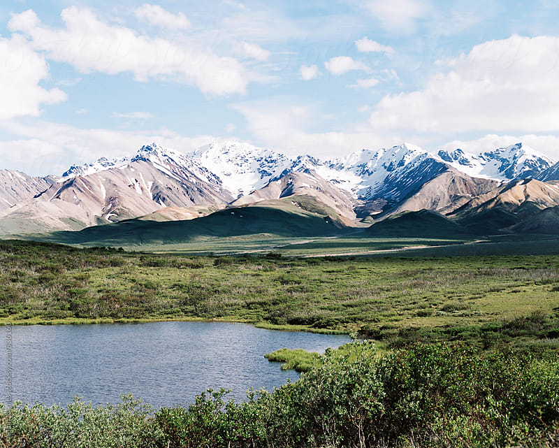 Alaskan Mountain Range by Adam Naples for Stocksy United