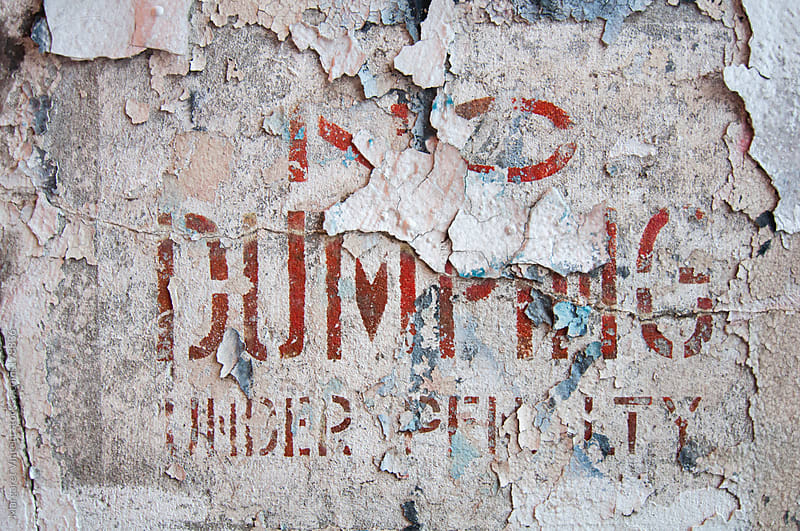 no dumping by Margaret Vincent for Stocksy United