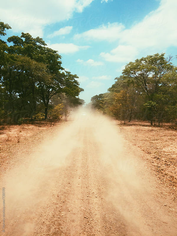 Dusty Dirt Road in Africa by B. Harvey for Stocksy United