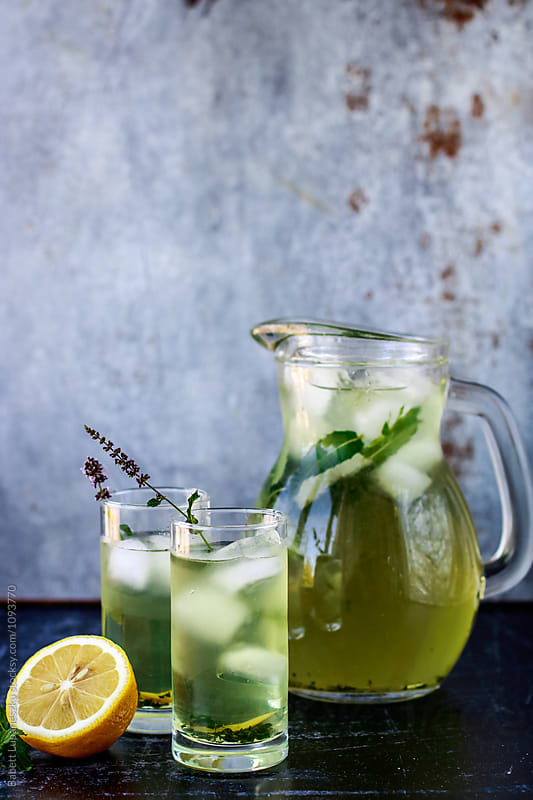 Fresh mint lemonade by Babett Lupaneszku for Stocksy United