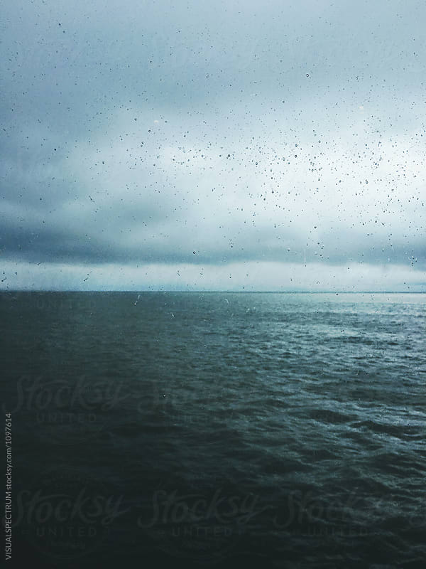 Stormy North Sea Through Ferry Window by Julien L. Balmer for Stocksy United