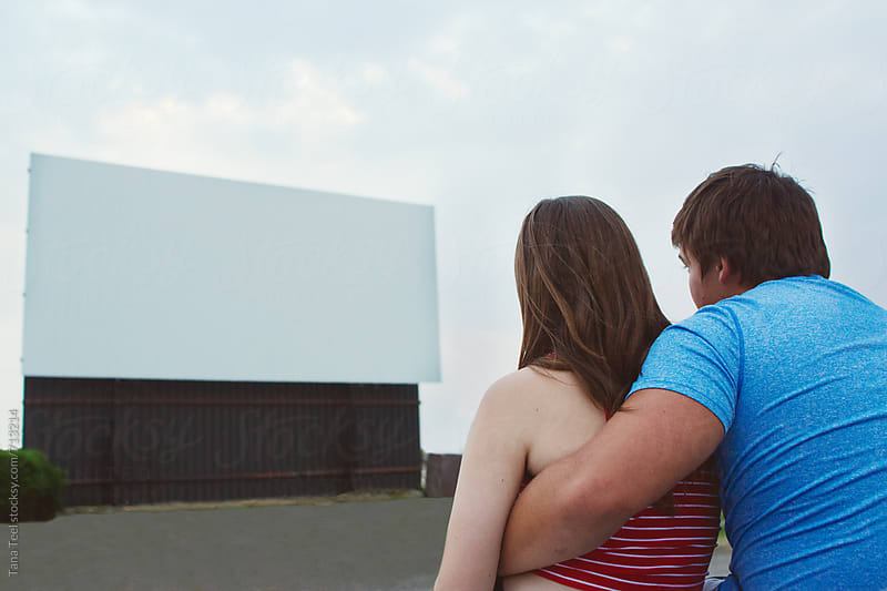 Series at a outdoor drive-in movie theater by Tana Teel for Stocksy United