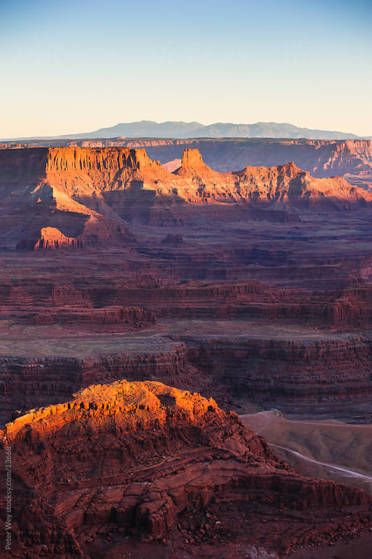 sunset view from dead horse state park by Peter Wey for Stocksy United