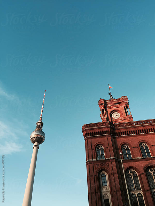 Berliner Fernsehtrum and Rotes Rathaus by Paperclip Images for Stocksy United