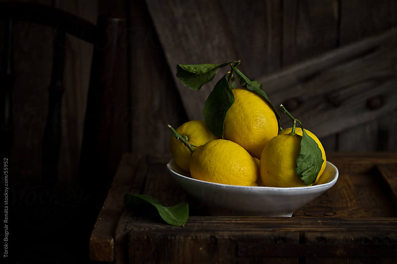 Lemon still life by Török-Bognár Renáta for Stocksy United