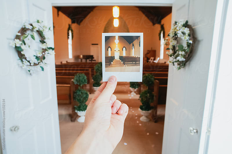 Polaroid of Wedding Chapel by Gabrielle Lutze for Stocksy United