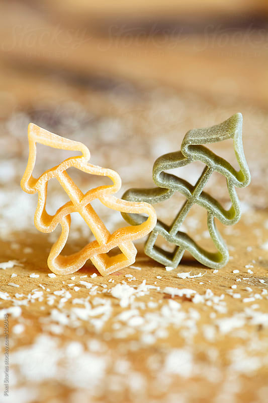 Pine tree shaped pasta by Pixel Stories for Stocksy United