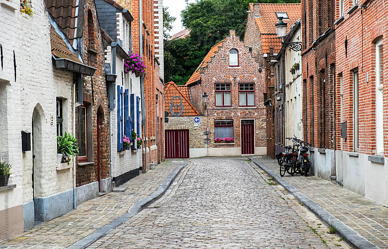 Street in Bruges, Belgium by Jeff Wasserman for Stocksy United