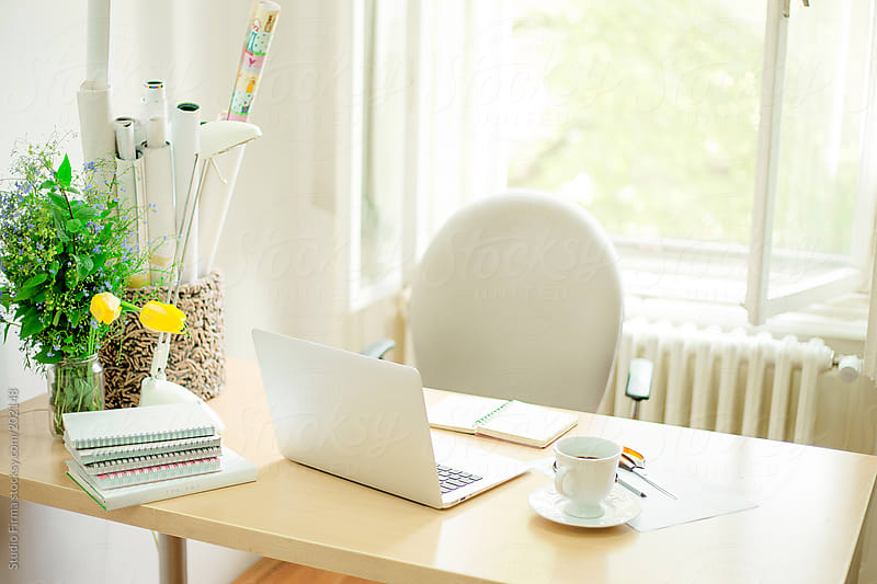 Office desk by Studio Firma for Stocksy United