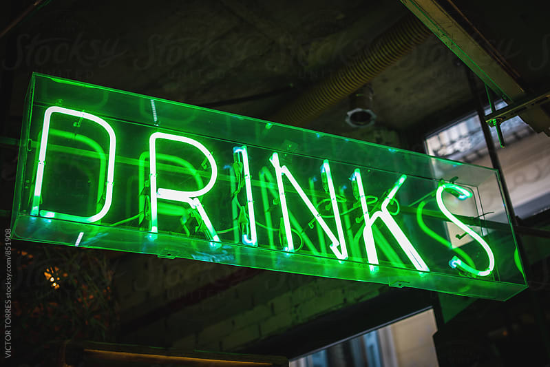 Drinks Neon Sign by Victor Torres for Stocksy United
