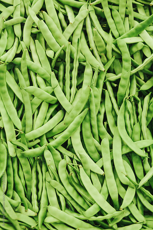 Fresh green beans ( string bean ) in the market by Borislav Zhuykov for Stocksy United